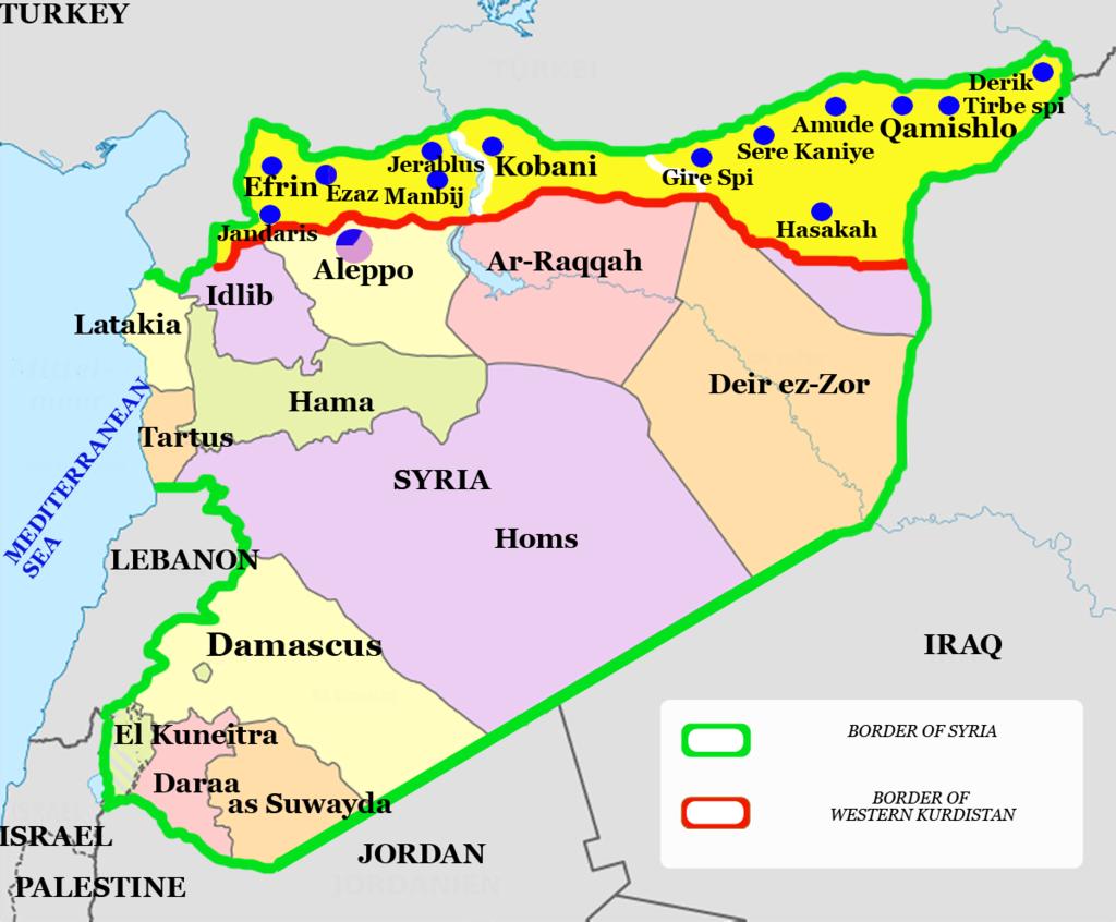 Syrien Karte Mit Städten.Udopia 04 Syrien West Kurdistan Oder Das Demokratische Experiment