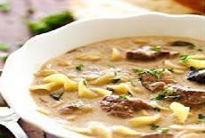 طريقة عمل حساء بيف استروجانوف Beef Stroganoff الروسي بالمشروم والكريمة