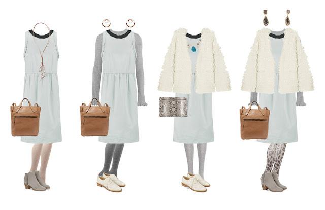 Комплекты капсульного гардероба белый, серый, кремовый, коричневый, голубой