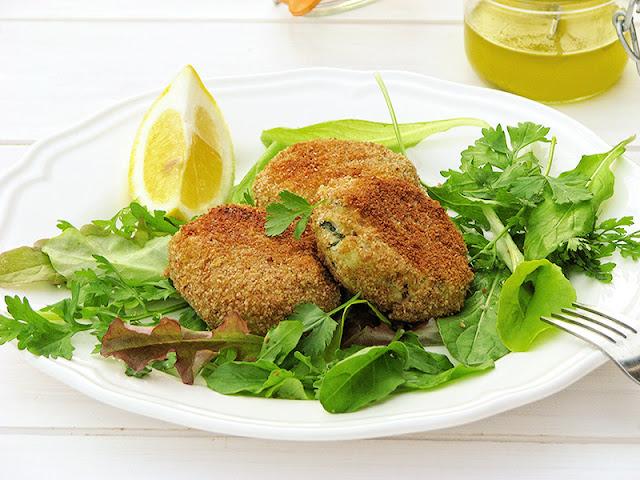 Recette bio de croquettes de pommes de terre, poisson et coriandre fraiche