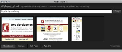 Adobe AIR application for web screensot