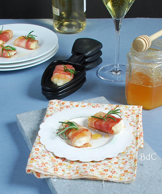 Rollitos de bacon con queso de cabra y miel - El bistrot de Carmen