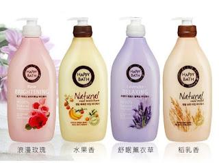 Sữa tắm Happy Bath Natural Real Milk 900g