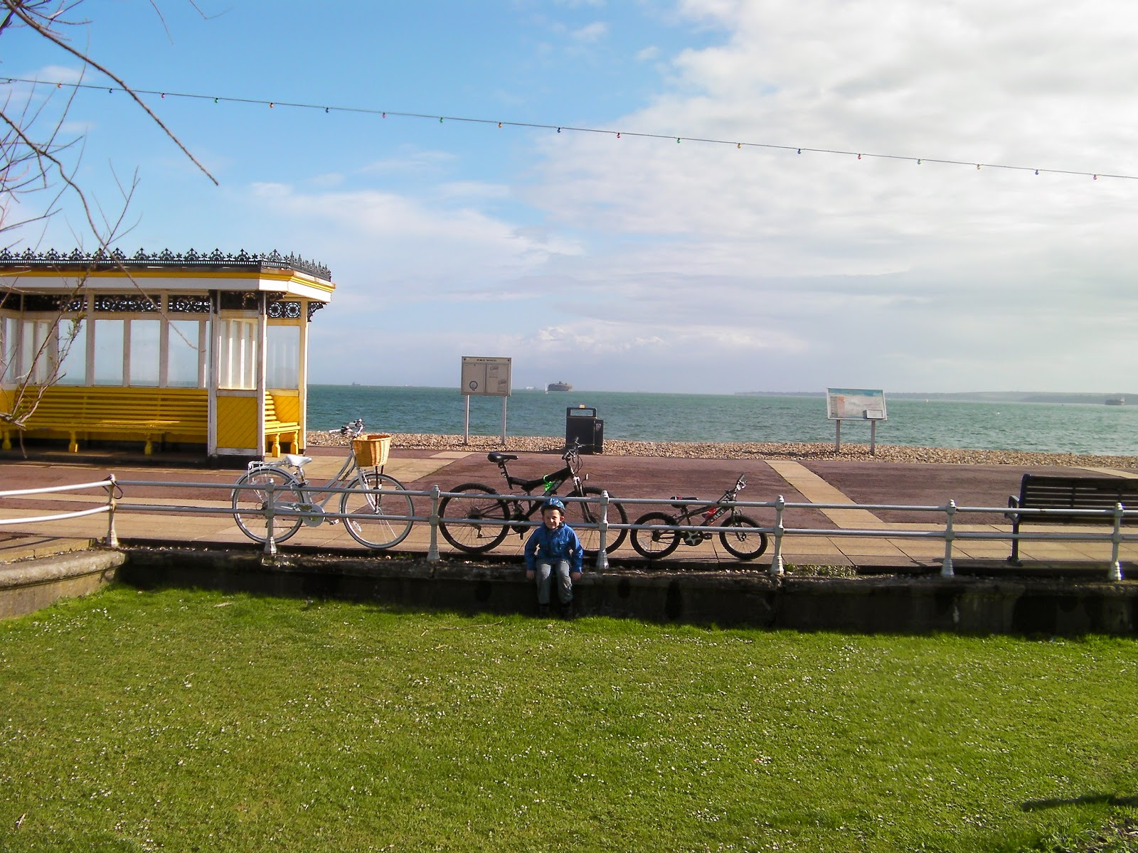 bicycling on southsea promenade