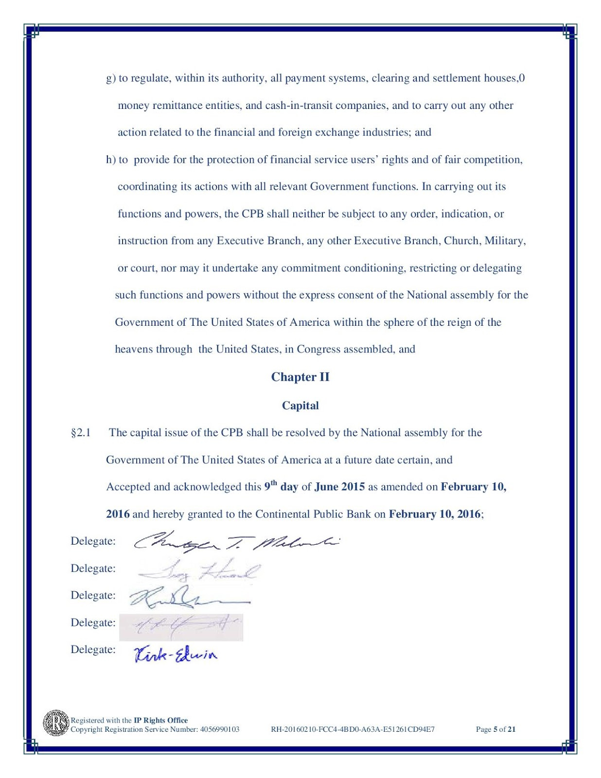 The United States, In Congress Assembled: PROCLAMATION OF DISSOLUTION OF THE BANK OF NORTH AMERICA. 20160210-GPOD3-CPB_CHARTER-page-005