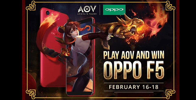 Play Arena of Valor for a chance to win an OPPO F5