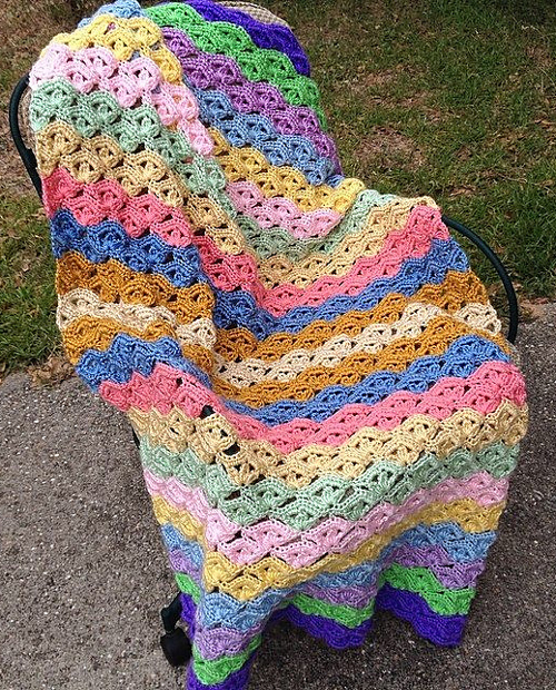 Irish Wave Baby Afghan & Scarf - Free Pattern