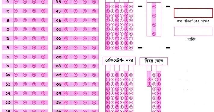 OMR Technology in Bangladesh: Board MCQ Answer Sheet Download