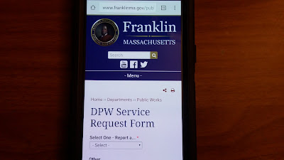 "click on the ""Public Works Order"" to open up the DPW Service Request Form"