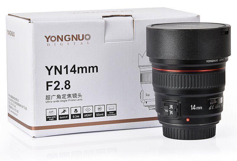 Объектив Yongnuo YN 14mm f/2.8 с упаковкой