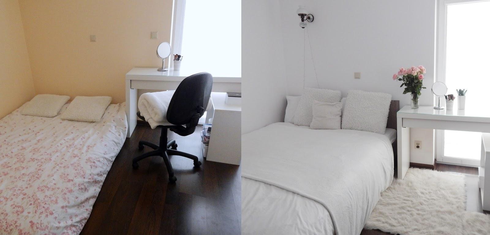 remont sypialni - przed i po