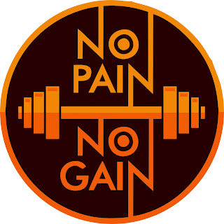 vetor estampa no pain no gain Academia Musculacao, Projeto Academia, Frase Treino, Motivação