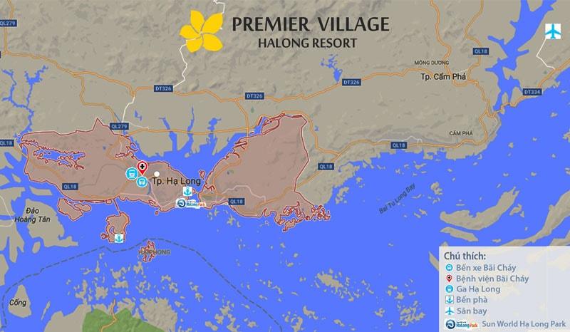Vị trí dự án Premier Village Hạ Long