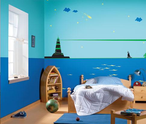لو جدار حائط غرفة اطفال