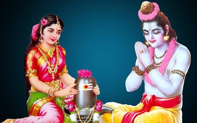 Best Lord Ram & Sita Shivling Pooja  Wallpaper