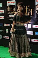 Ritika Singh in a Ethnic Deep Neck Dark Green Choli Ghagra at IIFA Utsavam Awards March 2017 ~ 047.JPG