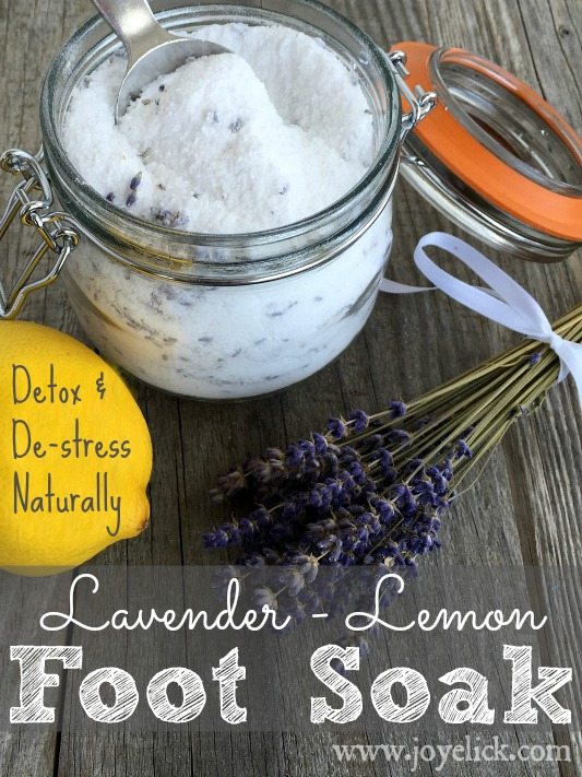 Diy Stress Relieving Foot Soak And Detox Relieve Stress And