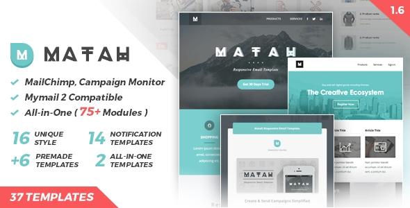 Matah Responsive Apple Mail Template Download