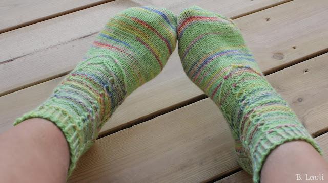 sokker strikkeoppskrift