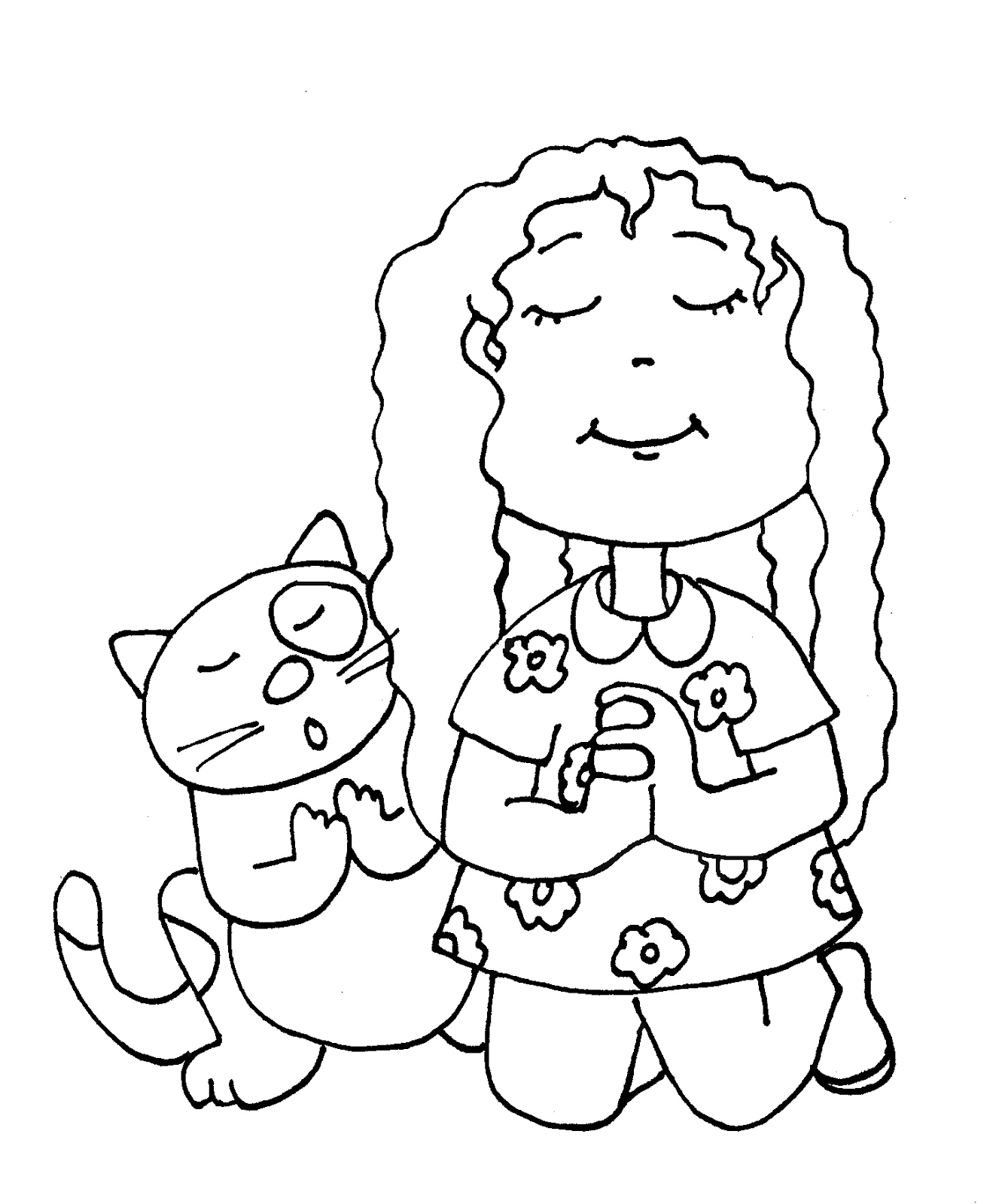 Free Dearie Dolls Digi Stamps: Praying Hands and Paws