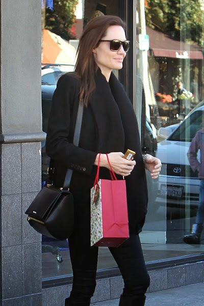 Angelina Jolie on shopping