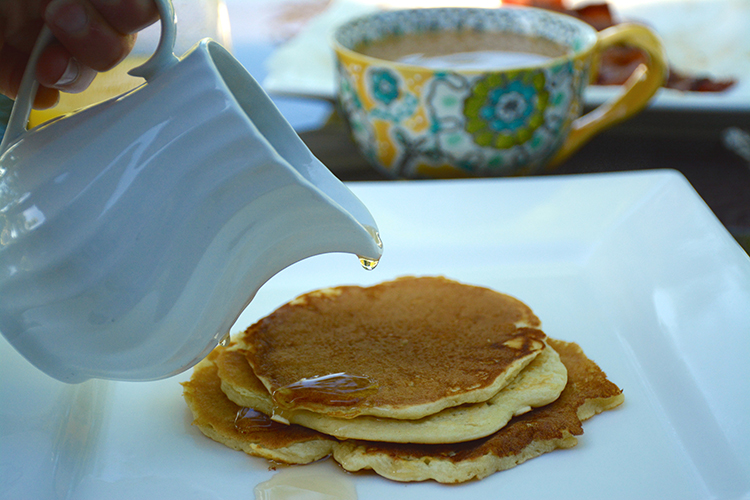 homemade syrup, pancakes, coffee | My Darling Days