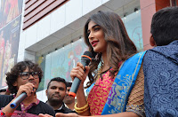 Puja Hegde looks stunning in Red saree at launch of Anutex shopping mall ~ Celebrities Galleries 134.JPG