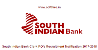 South Indian Bank Clerk PO's Recruitment Notification