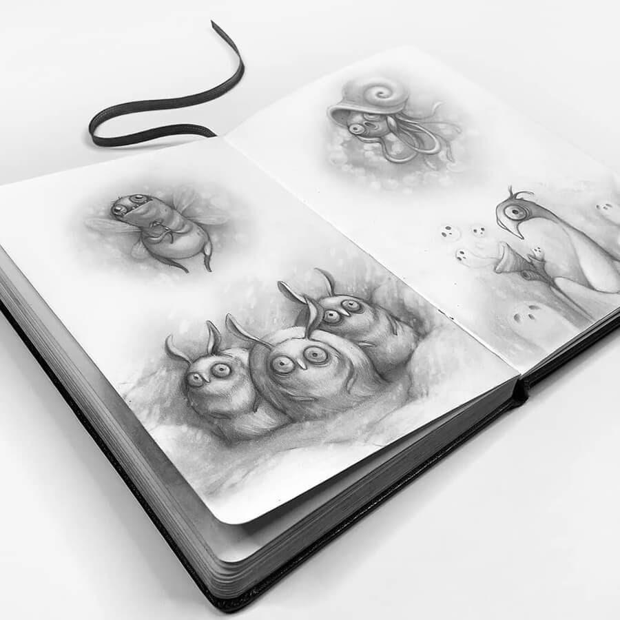 12-Drawings-of-Creatures-Stella-Bialek-www-designstack-co