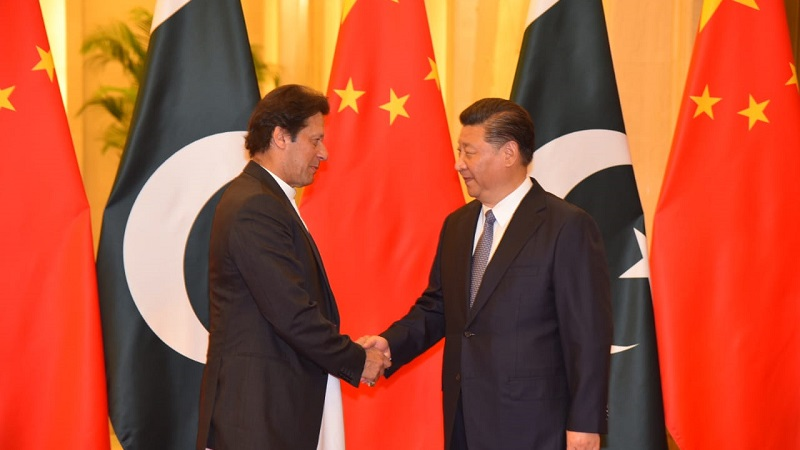 Prime Minister Imran Khan meets Chinese President Xi Jinping at Great People's Hall in Beijing