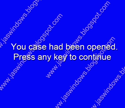 ошибка you case had been opened. press any key to continue.