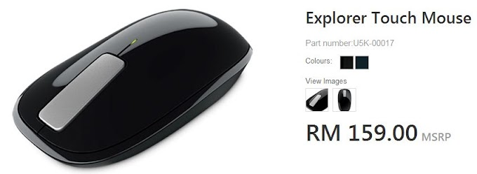 Microsoft Explorer Touch Mouse, RM159