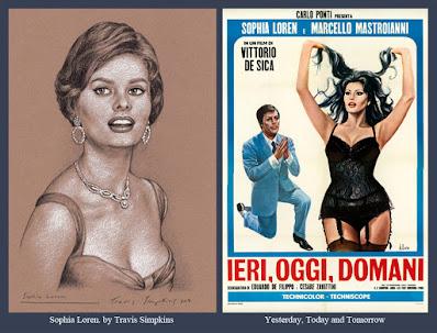 Sophia Loren. Italian Film Actress. Yesterday, Today and Tomorrow. by Travis Simpkins