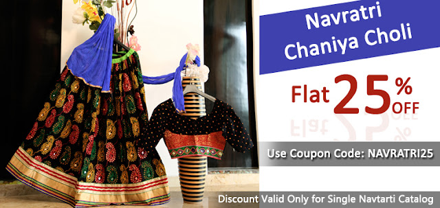 Navratri Festival Gujarati Chaniya Cholis and Ghagra Cholis Online Shopping with free shipping India