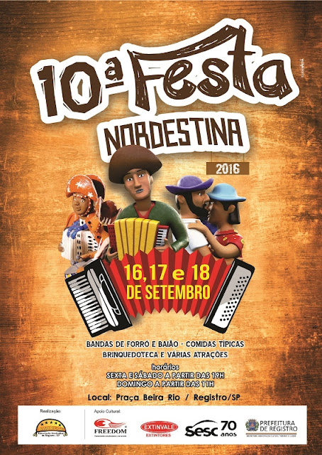 Vem aí a 10ª Festa Nordestina de Registro-SP