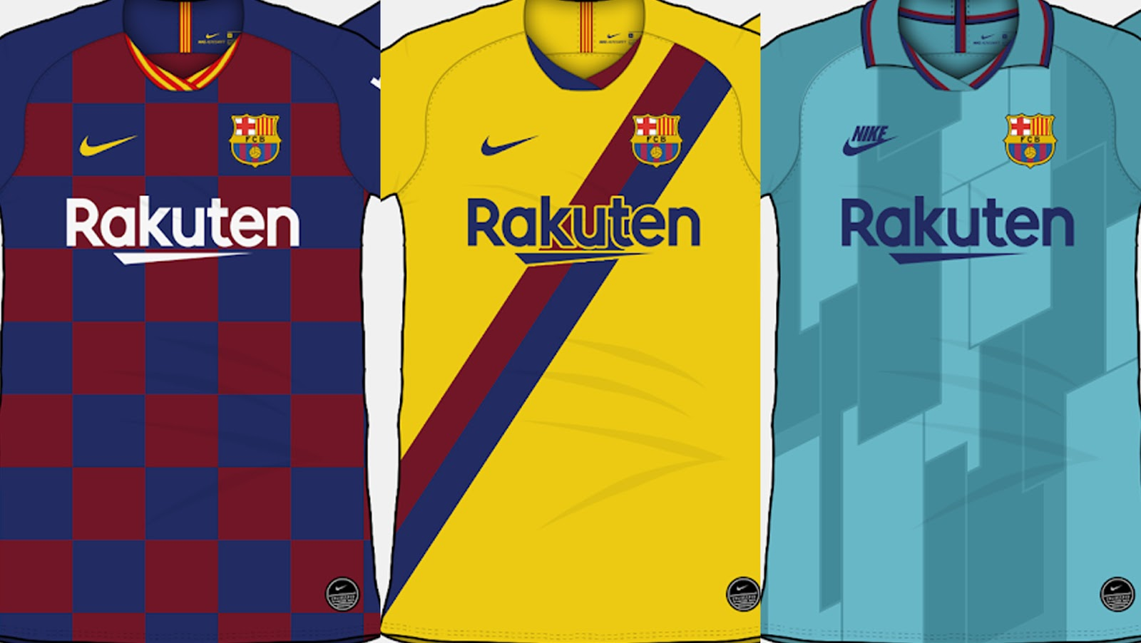 low priced ff08e 7d78e FC Barcelona 19-20 Home, Away & Third Kit Predictions By ...