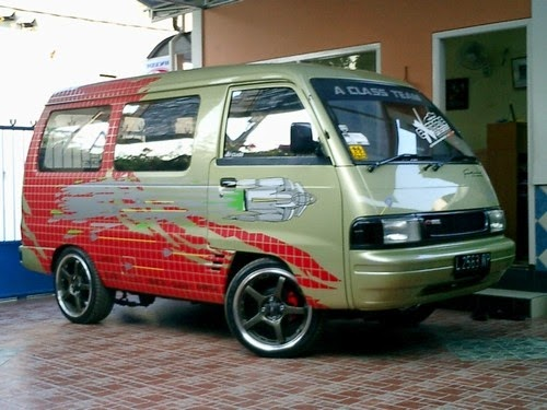 modifikasi mobil carry futura extra 1.0 pick up 1.5 losbak minibus terbaru
