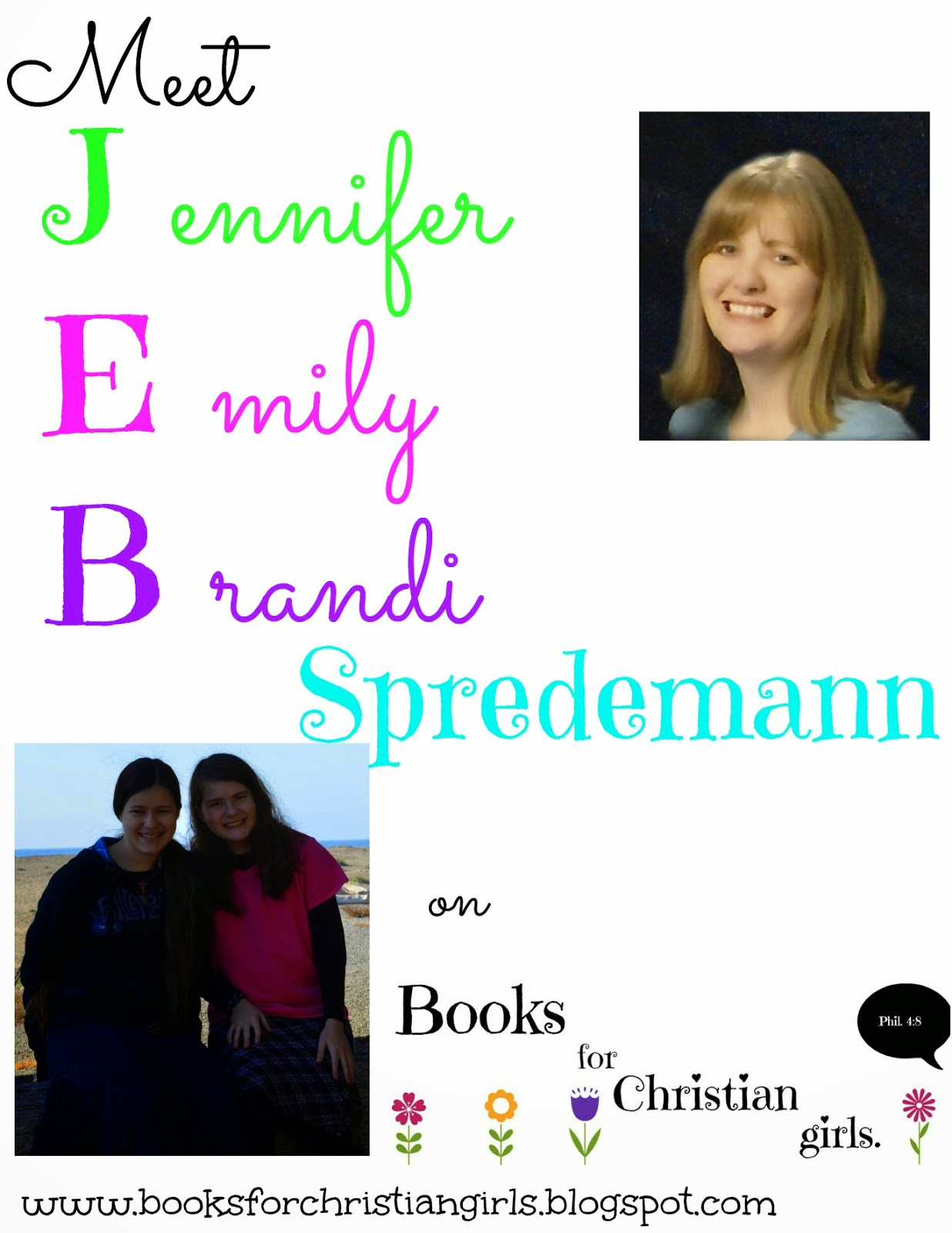 http://booksforchristiangirls.blogspot.com/2014/07/wrap-up-giveaway-last-day-of-jeb.html