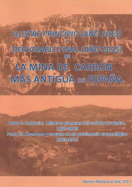 Libro de Ramón Mañana sobre la minería en Carbayín, Siero
