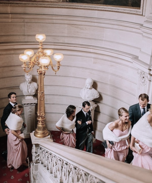 bridesmaids+chiffon+pink