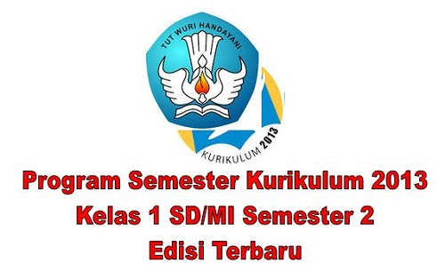 Program Semester Kurikulum 2013 Kelas 1 SD/MI Semester 2 Edisi Terbaru