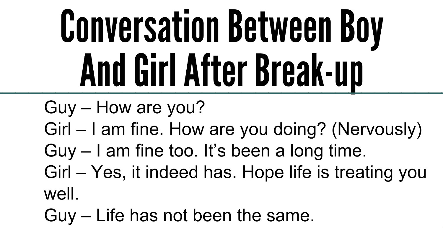 Awesome Quotes Conversation Between Boy And Girl After Break Up
