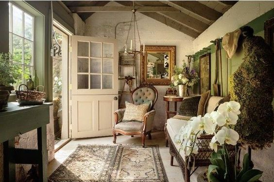 Wallpaper Living Room Countryside Feel Cottage