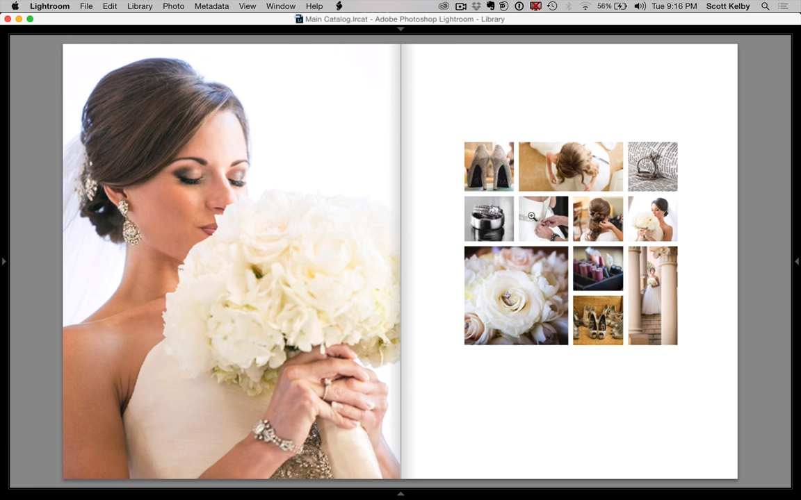 How to Make a Beautiful Custom Lightroom Wedding Book Page Layout