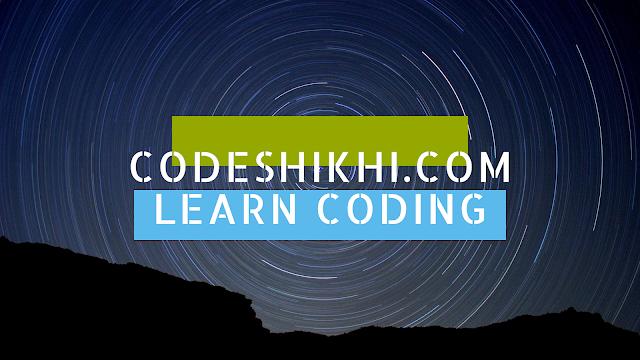 Codeshikhi is the free learning platform for coding in Bengali language