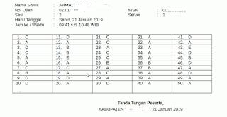 Dalam Ujian Madrasah kali ini proktor dapat  Cara Mencetak Lembar Jawab UAMBNBK Siswa