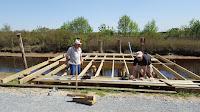Kayak Café le ponton terrasse 2018 en construction