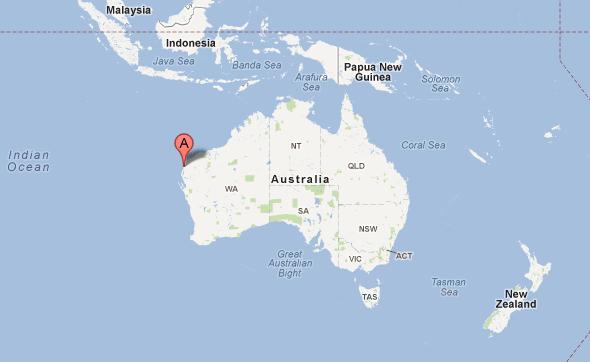 Western Australia   La tête en bas