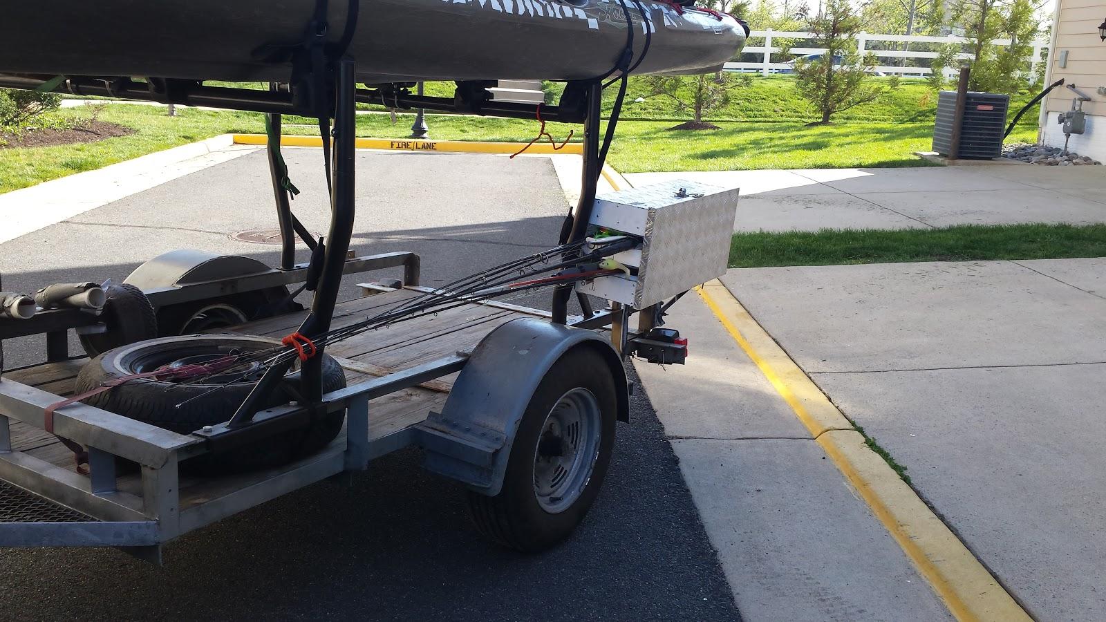 FishxScale: Diy Locking Rod Transport for a Kayak Trailer