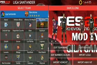 Download FTS Mod PES 2019 New Competition Update Kits & Player Apk + Data Obb
